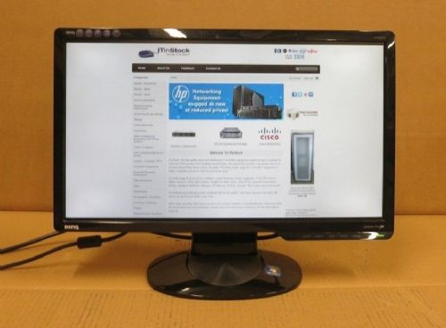 "BenQ G2020HD 20"" Widescreen LCD Monitor 16:9 1600 x 900 Screen DVI VGA & Stand"